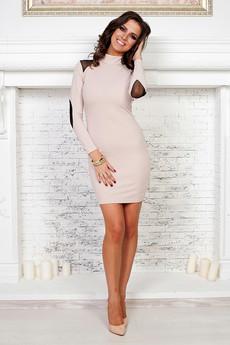 Платье цвета нюд Angela Ricci
