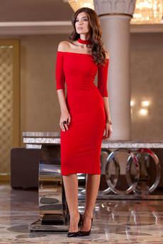 Платье с чокером на шее RUXARA