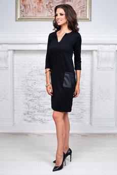 Черное платье с карманами Angela Ricci
